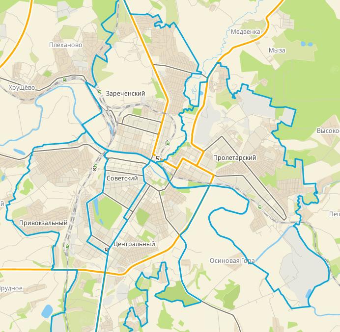В каком районе вам нужно жить?