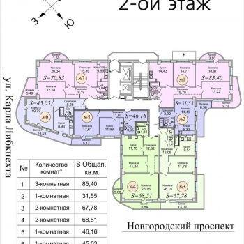 ЖК Радонеж (Архангельск) – планировка №2