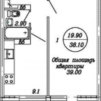 ЖК Традиция (Архангельск) – планировка №1