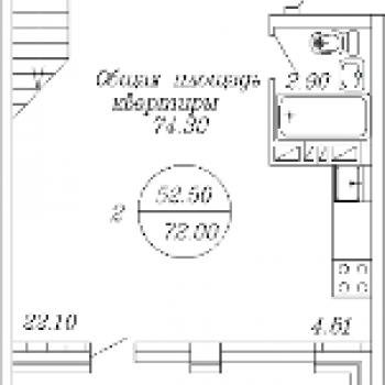 ЖК Традиция (Архангельск) – планировка №2