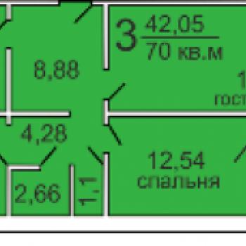 ЖК по ул. Стрелковой (Архангельск) – планировка №1