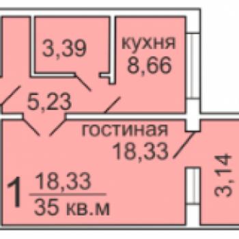 ЖК по ул. Стрелковой (Архангельск) – планировка №3