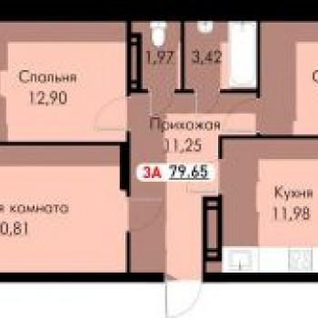 ЖК Новый город (Астрахань) – планировка №3
