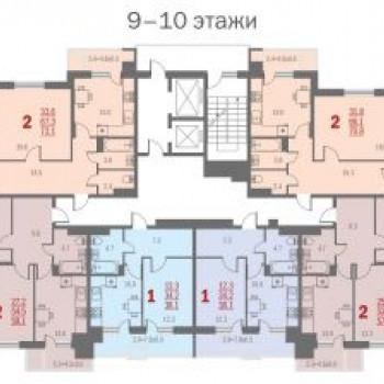 ЖК Центральный (Астрахань) – планировка №1
