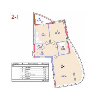 ЖК Паруса (Астрахань) – планировка №3