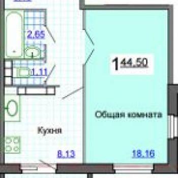 ЖК Таманский (Астрахань) – планировка №1