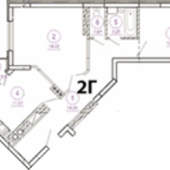 ЖК Дом Барсова (Астрахань) – планировка №2