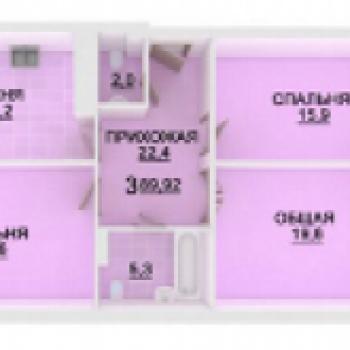 ЖК Адмирал (Астрахань) – планировка №2