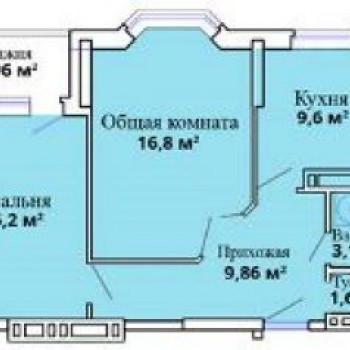 ЖК Лазурный (Астрахань) – планировка №4