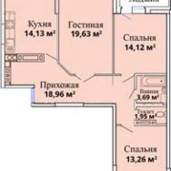 ЖК Лазурный (Астрахань) – планировка №3