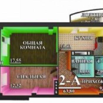ЖК на Воробьева (Астрахань) – планировка №3