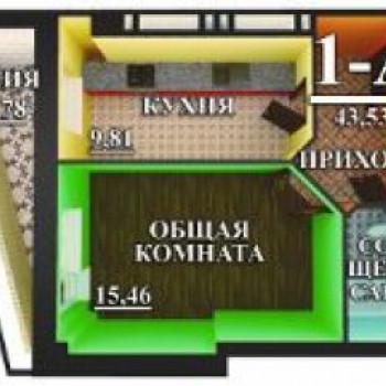 ЖК на Воробьева (Астрахань) – планировка №1