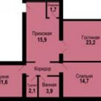 ЖК по ул. Власова (Астрахань) – планировка №3