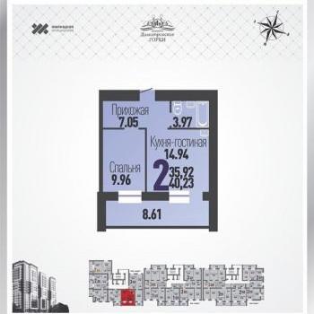 ЖК Димитровские горки (Микрорайон) (Барнаул) – планировка №1
