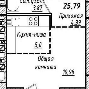 ЖК Южный (Барнаул) – планировка №6