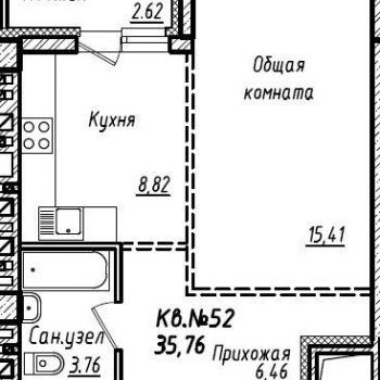 ЖК Южный (Барнаул) – планировка №8