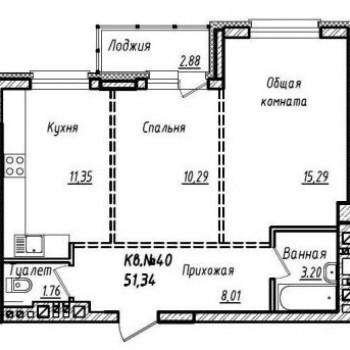 ЖК Южный (Барнаул) – планировка №4