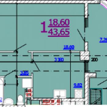 ЖК на ул. Б.Хмельницкого (Белгород) – планировка №1