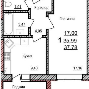 ЖК Браер Парк (Белгород) – планировка №3