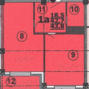 ЖК на ул. Шаландина (Белгород) – планировка №3