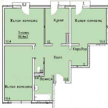 ЖК Экопарк Прилесье (Белгород) – планировка №2