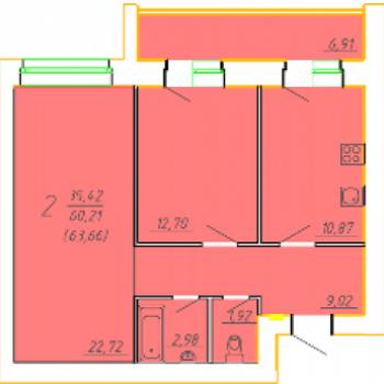 ЖК Семья (Брянск) – планировка №3