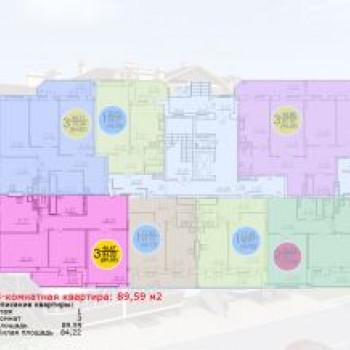 Жилой дом на проспекте Ленина (Брянск) – планировка №2