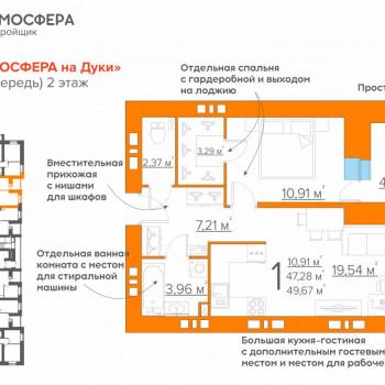 ЖК Атмосфера на Дуки (Брянск) – планировка №13