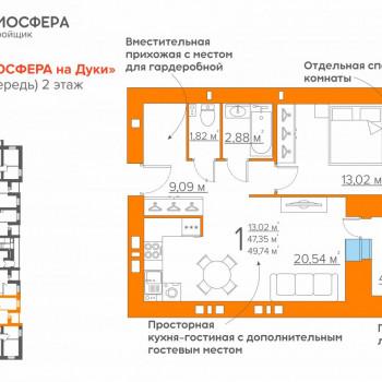 ЖК Атмосфера на Дуки (Брянск) – планировка №8