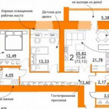 ЖК Атмосфера на Дуки (Брянск) – планировка №2