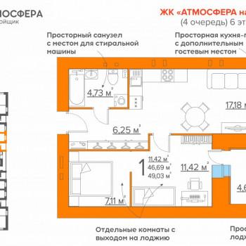 ЖК Атмосфера на Дуки (Брянск) – планировка №17