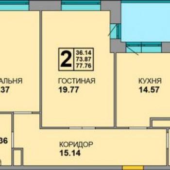 ЖК Соловьи (Брянск) – планировка №3