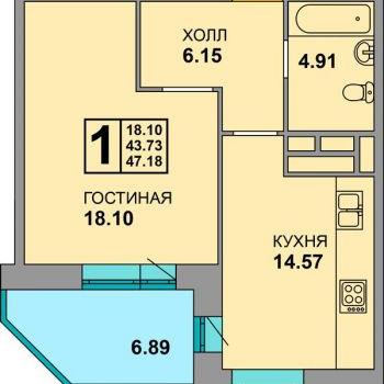 ЖК Соловьи (Брянск) – планировка №1