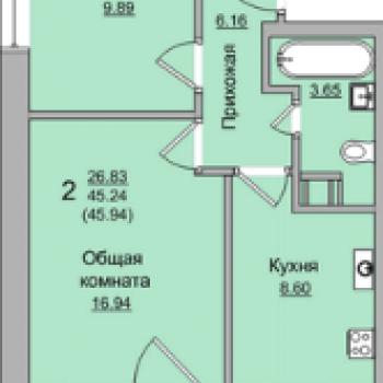 ЖК Просторный (Брянск) – планировка №2