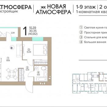 ЖК Новая Атмосфера (Брянск) – планировка №9