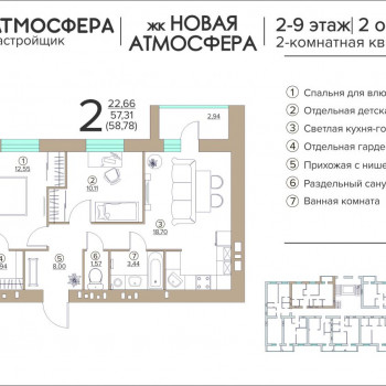 ЖК Новая Атмосфера (Брянск) – планировка №5