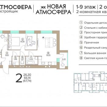 ЖК Новая Атмосфера (Брянск) – планировка №3