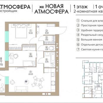 ЖК Новая Атмосфера (Брянск) – планировка №19