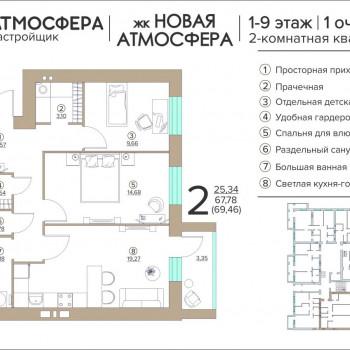ЖК Новая Атмосфера (Брянск) – планировка №17