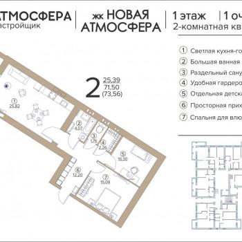 ЖК Новая Атмосфера (Брянск) – планировка №16