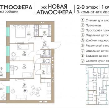 ЖК Новая Атмосфера (Брянск) – планировка №14