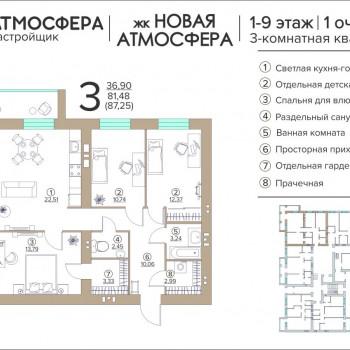 ЖК Новая Атмосфера (Брянск) – планировка №13