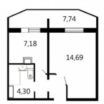 Квартал Набережных (Брянск) – планировка №1