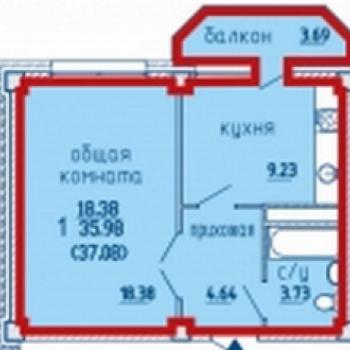 ЖК Речной (Брянск) – планировка №1