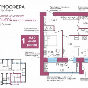 ЖК Атмосфера на Костычева (Брянск) – планировка №32