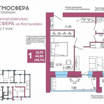 ЖК Атмосфера на Костычева (Брянск) – планировка №30