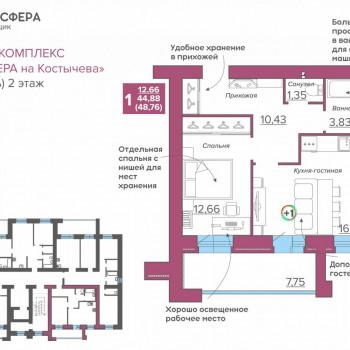 ЖК Атмосфера на Костычева (Брянск) – планировка №12