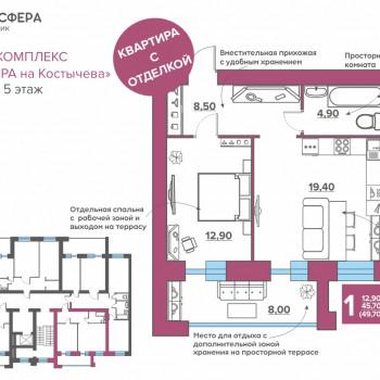 ЖК Атмосфера на Костычева (Брянск) – планировка №41