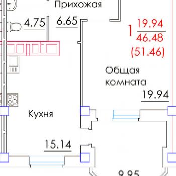 ЖК Граф Орлов (Брянск) – планировка №1