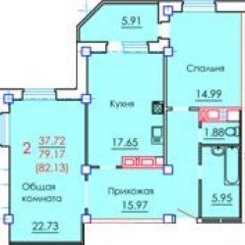 ЖК Граф Орлов (Брянск) – планировка №2
